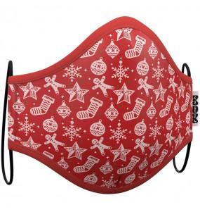 Mascarilla de Navidad Roja para adulto