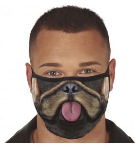 Mascarilla de Perro Bulldog para adulto