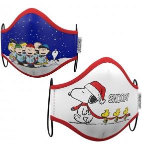 Mascarilla de Snoopy Navidad para adulto
