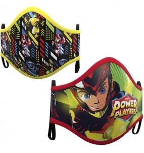 Mascarilla infantil de Power Players