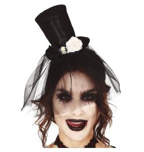 Mini Chistera Halloween con velo