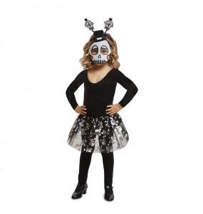 disfraz esqueleto tutú infantil