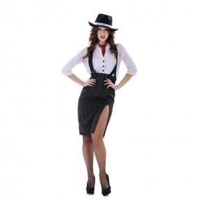 Disfraz de Gánster Mujer