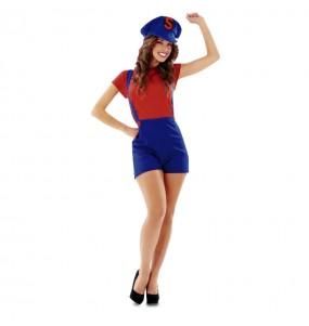 Disfraz de Fontanera Mario Bros