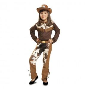 Disfraz de Vaquera Infantil Western