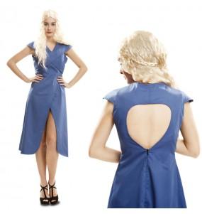 Disfraz de Daenerys Targaryen Azul adulto