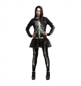 disfraz mujer esqueleto adulto