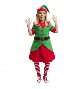 disfraz elfa navidad infantil