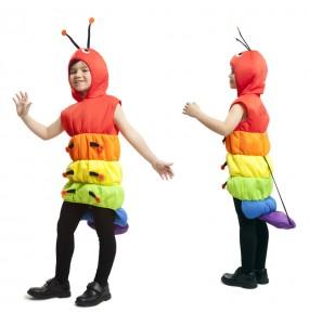 disfraz gusano multicolor infantil
