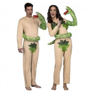 Pareja Adan y Eva paraíso