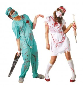 Pareja Cirujano y Enfermera Zombies