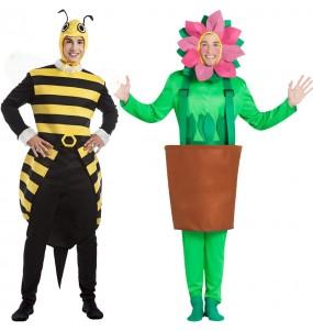 Pareja Abejorro y Flor