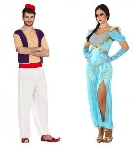 Pareja Aladdin y Jasmine