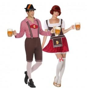 Pareja Bávaros Alemanes Oktoberfest