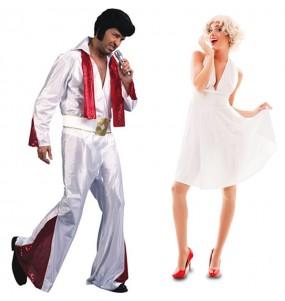 Pareja Elvis Presley y Marilyn Monroe para adulto
