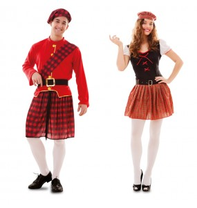 Pareja Escoceses adulto