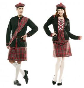 Pareja Escoceses Kilt