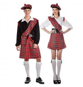 Pareja Escoceses Rojos