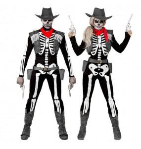 Pareja Esqueletos Vaqueros