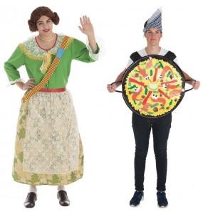 Pareja Disfraces Fallera y Paella