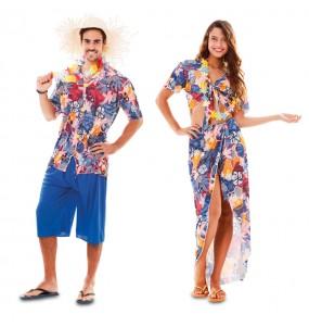 Pareja Hawaianos azules para adulto