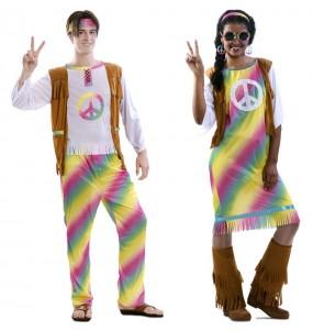 Pareja Hippies Arcoíris