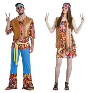 Pareja Hippies Happy