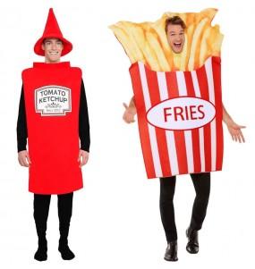 Pareja Ketchup y Patatas fritas