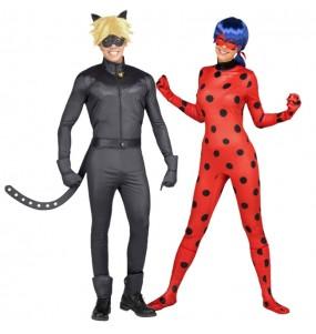 pareja disfraces Ladybug y Cat Noir