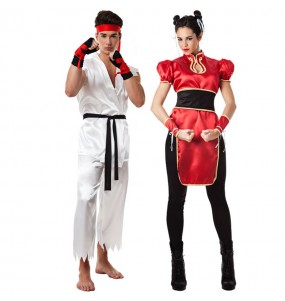Pareja Luchadores Street Fighter
