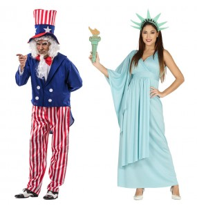 Pareja Patriotas Estados Unidos