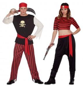 Pareja Piratas Calavera