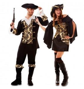 Pareja Piratas Dorados