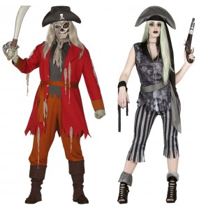 Pareja Piratas Fantasmas