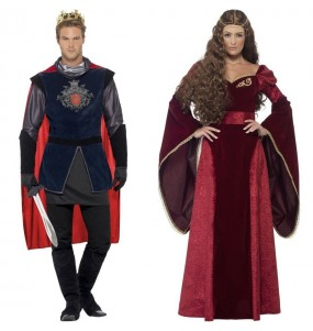 Pareja Reyes Medievales Rojos