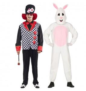 Pareja Sombrerero Loco y Conejo Blanco