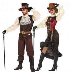 Pareja Steampunk Victorianos