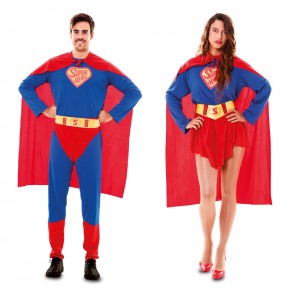 Pareja Disfraces Superhéroes para adulto