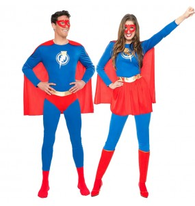Pareja Superhéroes Relámpago