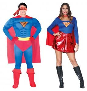 Pareja Disfraces Superman