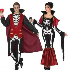 Pareja Vampiros Esqueleto