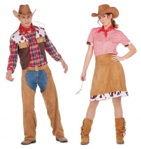 Pareja Vaqueros Americanos