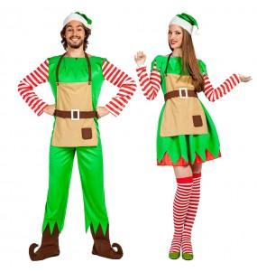 Pareja Elfos Navidad