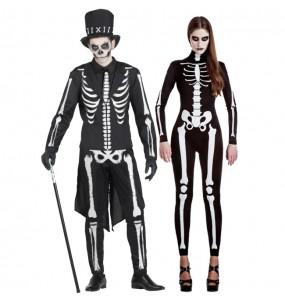 Pareja Esqueletos Halloween