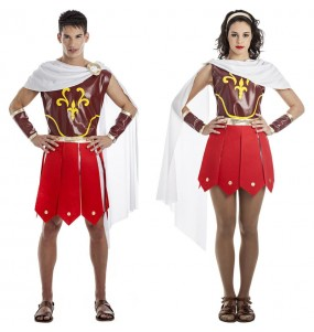 Pareja Gladiadores Romanos Espartanos