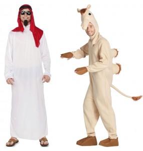 Pareja Jeque Árabe y Camello