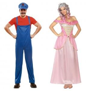 Pareja Mario Bros y la Princesa