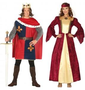 Pareja Medievales Elegantes