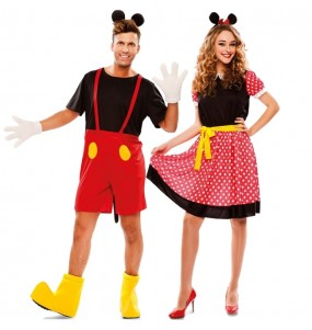 Pareja Mickey y Minnie Mouse