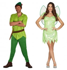 Pareja Peter Pan y Campanilla
